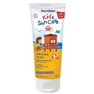 Καλοκαίρι Frezyderm – Παιδικό Αντηλιακό Γαλάκτωμα SPF50+ Προσώπου και Σώματος 175ml