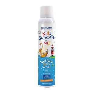 Καλοκαίρι Frezyderm – Παιδικό Αντηλιακό Spray SPF50 που Ψεκάζεται Απευθείας σε Βρεγμένο Δέρμα – 200ml