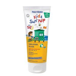 Καλοκαίρι Frezyderm – Παιδικό Αντηλιακό Γαλάκτωμα & Προστασία από Έντομα Παραλίας 175ml