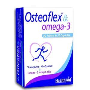 Άθληση - Κακώσεις Health Aid Osteoflex & Omega 3 για Ευκίνητες Αρθρώσεις και Υγιές Κυκλοφοριακό 30 Ταμπλέτες & 30 Κάψουλες