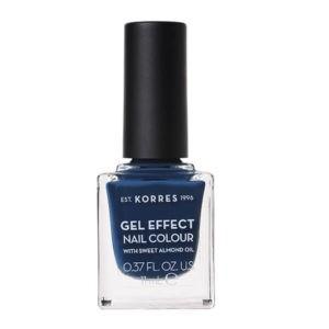 Γυναίκα Korres Gel Effect Βερνίκι Νυχιών με Αμυγδαλέλαιο – No84 Indigo Blue – 11ml