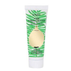Περιποίηση Προσώπου Korres Mask Babassu Butter Μάσκα Εντατικής Ενυδάτωσης & Θρέψης – 18ml