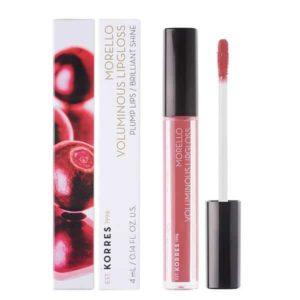 Γυναίκα Korres Morello Voluminous Lipgloss με Εξαιρετική Λάμψη & Γεμάτο Χρώμα No16 Blushed Pink 4ml