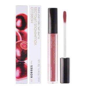 Γυναίκα Korres Morello Voluminous Lipgloss με Εξαιρετική Λάμψη & Γεμάτο Χρώμα No23 Natural Purple 4ml
