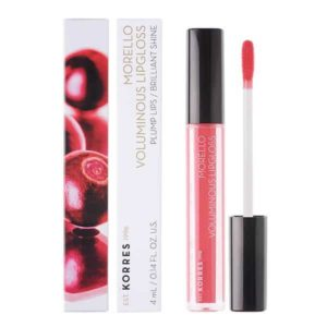 Χείλη Korres Morello Voluminous Lipgloss με Εξαιρετική Λάμψη & Γεμάτο Χρώμα No42 Peachy Coral 4ml