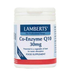 Αντιμετώπιση Lamberts – Συνένζυμο Q10 30mg Συμπλήρωμα Διατροφής για την Παραγωγή Ενέργειας από τα Θρεπτικά Συστατικά της Τροφής – 30tabs
