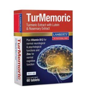Βότανα Lamberts TurMemoric- Συμπλήρωμα Διατροφής με Εκχύλισμα Ginkgo Biloba 6000mg – 60tabs