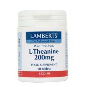Αμινοξέα Lamberts – Θειανίνη 200mg Αυξάνει τα Επίπεδα των GABA (Νευροδιαβιβαστών) και των Κυμάτων Α στον Εγκέφαλο – 60tabs