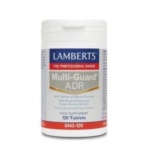Βιταμίνες Lamberts – Πολυφόρμουλα Ενέργειας & Τόνωσης με Rhodiola Korean Ginseng Q10 & Ταυρίνη – 120tabs