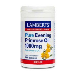 Διατροφή & Υγεία Lamberts – Συμπλήρωμα με Γ-Λινολεϊκό οξύ 1000mg (GLA) για Γυναίκες κατά τη Διάρκεια της Περιόδου και της Εμμηνόπαυσης – 90caps