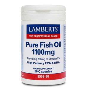 Διατροφή & Υγεία Lamberts – Συμπλήρωμα Διατροφής Ιχθυέλαιο Ω3 1100mg – 60tabs