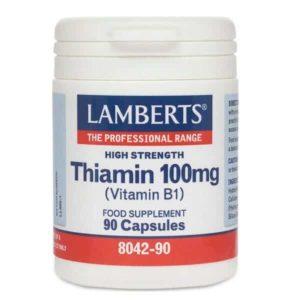 Βιταμίνες Lamberts – Θειαμίνη (βιτ.Β1) 100mg – 90caps