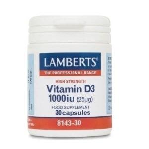 Ανοσοποιητικό Lamberts – Βιταμίνη D3 1000iu (25mg) – 30tabs