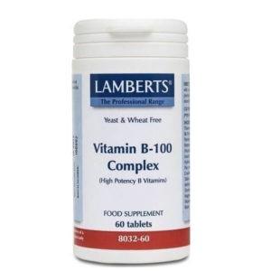 Διατροφή & Υγεία Lamberts – Σύμπλεγμα Βιταμίνης B-100 – 60tabs