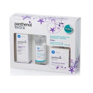 Γυναίκα Medisei – Panthenol Extra Face Σετ Περιποίησης με Ορό Προσώπου & Ματιών, Νερό Καθαρισμού Προσώπου και Κρέμα Προσώπου & Ματιών