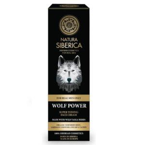 Άνδρας Natura Siberica – MEN Wolf Power Face Cream – Ανδρική Τονωτική Κρέμα Προσώπου – Κατάλληλο για Όλους τους Τύπους Δέρματος & Ηλικίες – 50ml