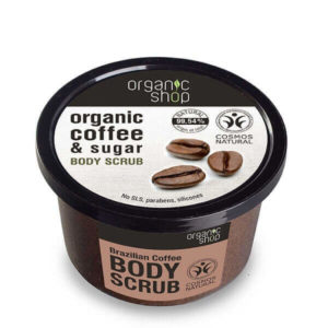 Γυναίκα Natura Siberica Organic Shop – Απολεπιστικό Σώματος με Καφέ Βραζιλίας & Ζάχαρη – 250ml.