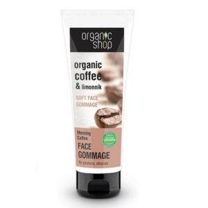 Περιποίηση Προσώπου Natura Siberica Organic Shop Απαλό Scrub Προσώπου Morning Coffee – 75ml