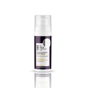 Γυναίκα Natura Siberica Rhodiola Rosea Night Cream Προστασία και Ανάπλαση για Ευαίσθητο Δέρμα – 50ml