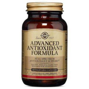 Βιταμίνες Solgar – Συμπλήρωμα Διατροφής με Αντιοξειδωτική Δράση για την Προστασία των Υγιών Κυττάρων του Οργανισμού – 60veg.caps