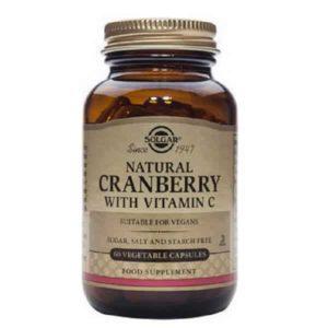 Βιταμίνες Solgar – Συμπλήρωμα Διατροφής Κράνμπερι & Βιταμίνη C για την Προστασία του Ουροποιητικού – 60veg.caps