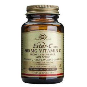 Βιταμίνες Solgar – Συμπλήρωμα Διατροφής με Πρωτοποριακή μη Όξινη Μορφή Βιταμίνης C 500mg – 50veg.caps