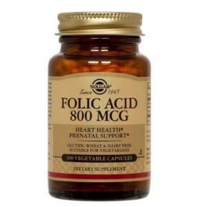 Διατροφή & Υγεία Solgar – Φολλικό Οξύ 800mg 100tabs