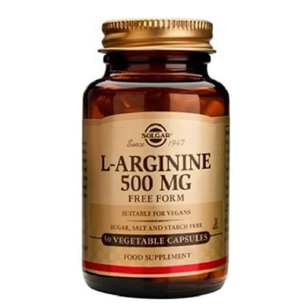 Αμινοξέα Solgar – Συμπλήρωμα Διατροφής Υψηλής Συγκέντρωσης σε Αργινίνη L-Arginine 500mg – 50veg.caps