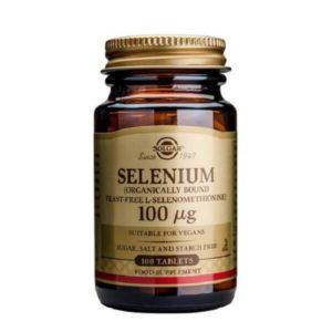 Μέταλλα - Ιχνοστοιχεία Solgar – Συμπλήρωμα Διατροφής με Οργανικό Σελήνιο 100mg – Χρήσιμο στην καλή Λειτουργία του Ανοσοποιητικού Συστήματος του Θυρεοειδούς και τη Σπερματογένεση – 100 tabs