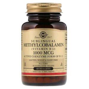 Αντιμετώπιση Solgar – Βιταμίνη Β12 σε Μορφή Μεθυλοκοβαλαμίνης 1000mg – Απαραίτητη σε Έλλειψη Βιταμίνης Β12 σε Ηλικιωμένους Φυτοφάγους και Άτομα με Πεπτικές Διαταραχές – 30 Υπογλώσσια Δισκία