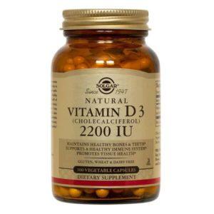 Βιταμίνες Solgar – Συμπλήρωμα Διατροφής Βιταμίνη D3 2200IU – 100veg.caps