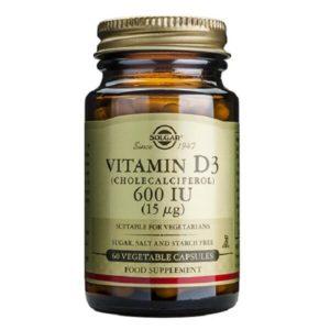 Ανοσοποιητικό Solgar – Συμπλήρωμα Διατροφής Βιταμίνη D 600IU 15mg – 60veg.caps