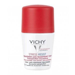 Γυναίκα Vichy Deodorant Stress Resist Roll-On Αποσμητικό για Έντονη Εφίδρωση 72 Ώρες – 50ml