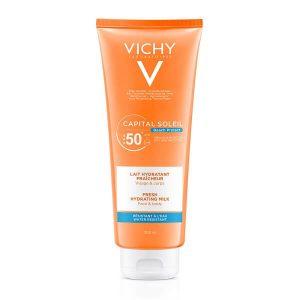 Άνοιξη Vichy – Capital Soleil Fresh Protective Milk Αντηλιακό Γαλάκτωμα για Πρόσωπο και Σώμα SPF50+ 300ml
