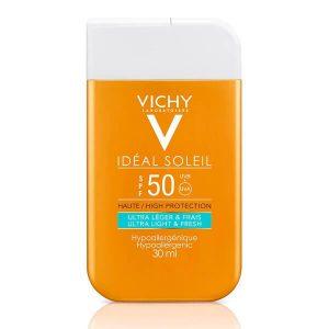 Άνοιξη Vichy – Ideal Soleil High Protection Ultra Light and Fresh Αντηλιακή Κρέμα Προσώπου Λεπτόρρευστης Υφής Υψηλής Προστασίας SPF50+ 30ml