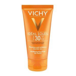 Άνοιξη Vichy – Ideal Soleil Mattifying Face Fluid Dry Touch SPF30 Λεπτόρρευστη Αδιάβροχη Υφή και Ματ Αποτέλεσμα 50ml