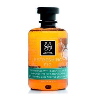 Άνδρας Apivita Refreshing Fig Αφρόλουτρο με Αιθέρια Έλαια – 300ml