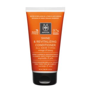 Γυναίκα Apivita Shine & Revitalizing Conditioner Κρέμα Λάμψης & Αναζωογόνησης Με Πορτοκάλι & Μέλι 150ml