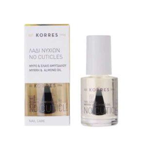 Αντιμετώπιση Korres Nail Care No Cuticles Λάδι Νυχιών με Μύρο και Έλαιο Αμυγδάλου – 10ml