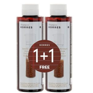 1+1 Gift Korres Shampoo Rice Proteins and Linden for Thin – Fine Hair 250ml  (1+1 Gift)