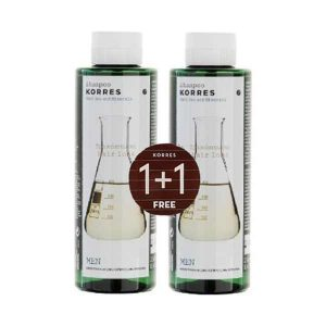 1+1 Gift Korres Shampoo for Men Cystine and Minerals Anti Hair-Loss 250ml (1+1 Gift)