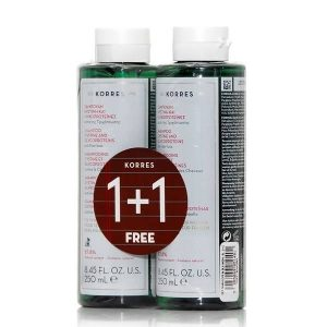 1+1 Gift Korres Shampoo for Women Cystine and Glycoproteins Anti Hair-Loss 250ml (1+1 Gift)