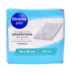 Βοηθήματα Ακράτειας StromaPad – Απορροφητικά Υποσέντονα Μια Χρήσης 60×90 15τμχ