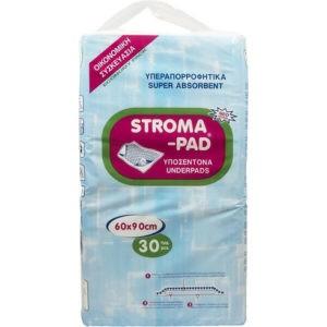 Βοηθήματα Ακράτειας StromaPad – Απορροφητικά Υποσέντονα Μια Χρήσης 60×90 30τμχ
