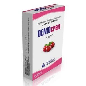 Διατροφή & Υγεία Democran – Συμπλήρωμα Διατροφής με Εκχύλισμα Κράνμπερι και με Προβιοτικά 28 Κάψουλες
