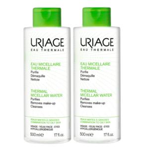1+1 Δώρο Uriage – Ιαματικό Νερό Καθαρισμού Λιπαρές & Μικτές 2x500ml