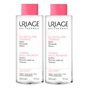 Περιποίηση Προσώπου Uriage – Ιαματικό Νερό Καθαρισμού Για Ευαίσθητο Δέρμα 2x500ml