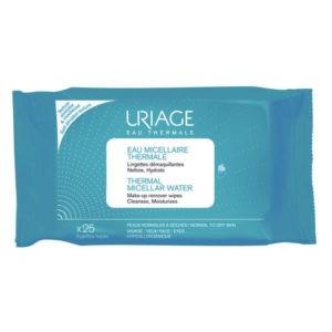 Περιποίηση Προσώπου Uriage – Thermal Μαντηλάκια Καθαρισμού Ντεμακιγιάζ 25τμχ