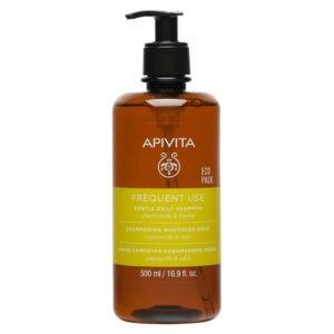 Σαμπουάν Apivita – Frequent Use Gentle Daily Shampoo Απαλό Σαμπουάν Καθημερινής Χρήσης με Χαμομήλι και Μέλι 500ml