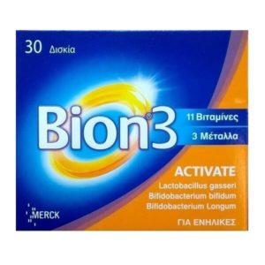Βιταμίνες Bion 3 Activate Προηγμένη Σύνθεση 3 Τύπων Προβιοτικών με Συνένζυμο Q10 30 Δισκία